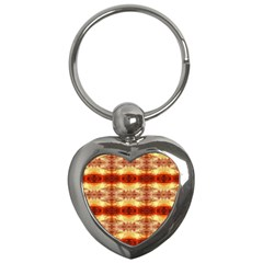 Fabric Design Pattern Color Key Chains (Heart)