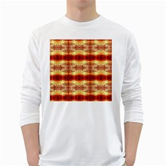 Fabric Design Pattern Color White Long Sleeve T-Shirts