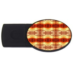 Fabric Design Pattern Color USB Flash Drive Oval (4 GB)