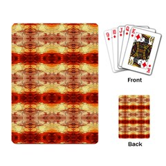 Fabric Design Pattern Color Playing Card