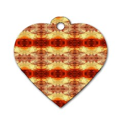 Fabric Design Pattern Color Dog Tag Heart (two Sides)