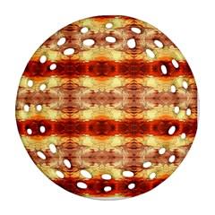 Fabric Design Pattern Color Ornament (Round Filigree)
