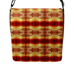 Fabric Design Pattern Color Flap Messenger Bag (l)