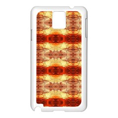 Fabric Design Pattern Color Samsung Galaxy Note 3 N9005 Case (white)