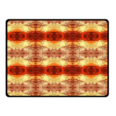 Fabric Design Pattern Color Double Sided Fleece Blanket (Small)