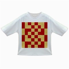 Fabric Geometric Red Gold Block Infant/toddler T Shirts