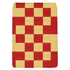 Fabric Geometric Red Gold Block Flap Covers (s)