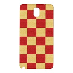 Fabric Geometric Red Gold Block Samsung Galaxy Note 3 N9005 Hardshell Back Case