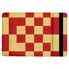 Fabric Geometric Red Gold Block Ipad Air Flip