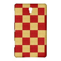 Fabric Geometric Red Gold Block Samsung Galaxy Tab S (8 4 ) Hardshell Case
