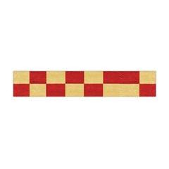 Fabric Geometric Red Gold Block Flano Scarf (Mini)