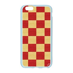 Fabric Geometric Red Gold Block Apple Seamless iPhone 6/6S Case (Color)