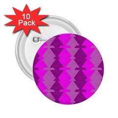 Fabric Textile Design Purple Pink 2 25  Buttons (10 Pack)
