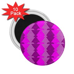 Fabric Textile Design Purple Pink 2.25  Magnets (10 pack)