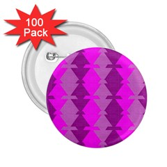 Fabric Textile Design Purple Pink 2 25  Buttons (100 Pack)