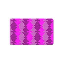 Fabric Textile Design Purple Pink Magnet (name Card)