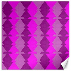 Fabric Textile Design Purple Pink Canvas 16  x 16