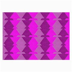 Fabric Textile Design Purple Pink Large Glasses Cloth (2-Side)