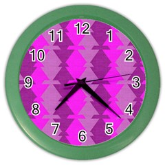 Fabric Textile Design Purple Pink Color Wall Clocks