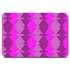 Fabric Textile Design Purple Pink Large Doormat