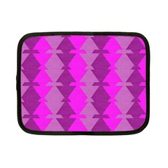 Fabric Textile Design Purple Pink Netbook Case (Small)