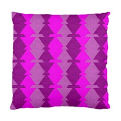 Fabric Textile Design Purple Pink Standard Cushion Case (Two Sides)