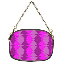 Fabric Textile Design Purple Pink Chain Purses (two Sides)