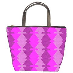 Fabric Textile Design Purple Pink Bucket Bags
