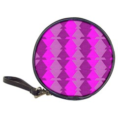 Fabric Textile Design Purple Pink Classic 20-CD Wallets