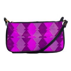 Fabric Textile Design Purple Pink Shoulder Clutch Bags