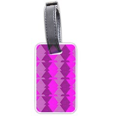 Fabric Textile Design Purple Pink Luggage Tags (One Side)