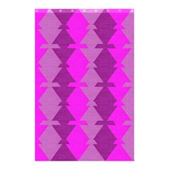 Fabric Textile Design Purple Pink Shower Curtain 48  x 72  (Small)