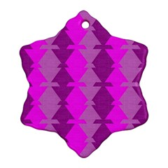 Fabric Textile Design Purple Pink Ornament (Snowflake)