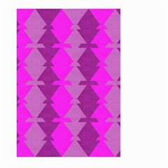 Fabric Textile Design Purple Pink Large Garden Flag (Two Sides)
