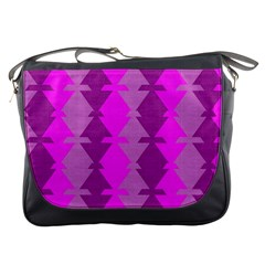 Fabric Textile Design Purple Pink Messenger Bags