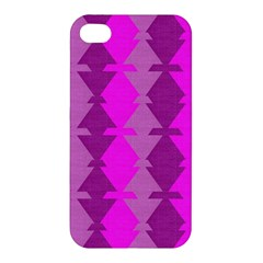 Fabric Textile Design Purple Pink Apple iPhone 4/4S Premium Hardshell Case