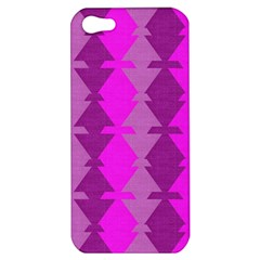 Fabric Textile Design Purple Pink Apple Iphone 5 Hardshell Case