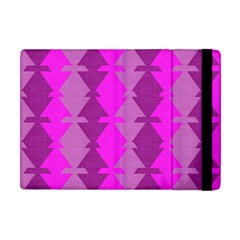 Fabric Textile Design Purple Pink Apple iPad Mini Flip Case