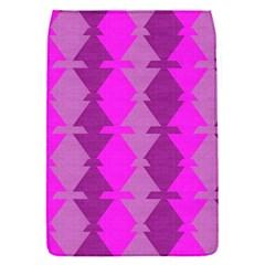 Fabric Textile Design Purple Pink Flap Covers (S)