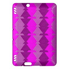 Fabric Textile Design Purple Pink Kindle Fire HDX Hardshell Case