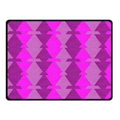 Fabric Textile Design Purple Pink Double Sided Fleece Blanket (Small)