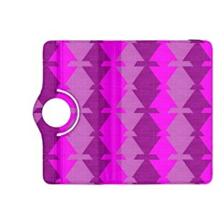 Fabric Textile Design Purple Pink Kindle Fire Hdx 8 9  Flip 360 Case