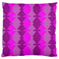 Fabric Textile Design Purple Pink Large Flano Cushion Case (two Sides)