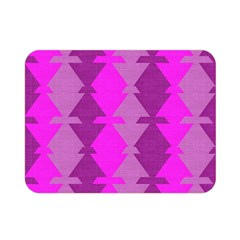 Fabric Textile Design Purple Pink Double Sided Flano Blanket (mini)