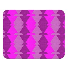 Fabric Textile Design Purple Pink Double Sided Flano Blanket (Large)