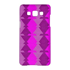 Fabric Textile Design Purple Pink Samsung Galaxy A5 Hardshell Case