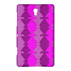 Fabric Textile Design Purple Pink Samsung Galaxy Tab S (8.4 ) Hardshell Case