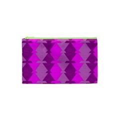 Fabric Textile Design Purple Pink Cosmetic Bag (xs)