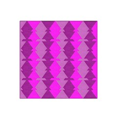 Fabric Textile Design Purple Pink Satin Bandana Scarf