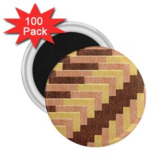 Fabric Textile Tiered Fashion 2 25  Magnets (100 Pack)